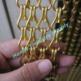 Цепь двойника металла золота покрынная цветом для украшения мешка