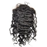 Perucas malaias do laço da parte dianteira do cabelo do Virgin (onda 16Inch-Deep)