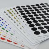 L'abitudine ha stampato l'autoadesivo adesivo impermeabile del contrassegno del tondo di carta