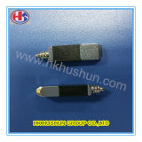 CNC que faz à máquina os pinos de bronze do plugue do adaptador elétrico para o carregador (HS-BS-0082)
