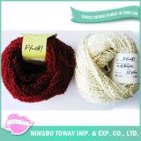 Lenço extravagante da barriga que tricota manualmente o fio extravagante colorido de matéria têxtil (FY-081)