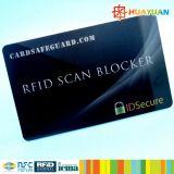 Carteira de cartão de crédito proteção de segurança RFID Blocker bloqueando o cartão