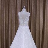 Vestido de casamento mais elegante de Alibaba da parte inferior do cetim