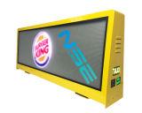 풀 컬러 LED 스크린 옥외 광고 택시 상단 발광 다이오드 표시