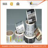 Etiqueta de impressão de etiqueta de selo de segurança personalizada de alta qualidade da eletrônica