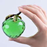 60mm Crystal Apple Paperweight per Table Decoration