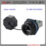 Cnlinko Plastic Waterproof IP67 RJ45 Connector voor Communication Equipment