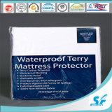 Protecteur imperméable à l'eau lavable de matelas de bactéries de Terry de machine anti