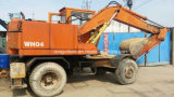 Máquina escavadora usada de Hitachi Wh04 da máquina escavadora da roda