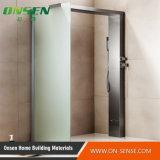 Schermo di acquazzone di alluminio di Frameless per la stanza da bagno
