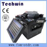 Splicer de fibra óptica Tcw-605c da fusão de Techwin