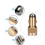 USB doppio Metal Car Charger con 5V 2.4 a
