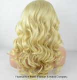 "26 "" Fine Mono의 어두운 Root Blond Hair Wig Made"