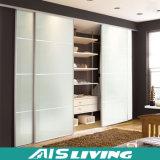 Wardrobe de vidro do quarto da porta deslizante (AIS-W024)
