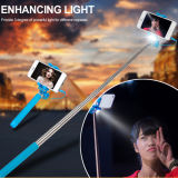 Wired linternas Selfie Stick con luz LED Selfie