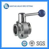 Санитарная нержавеющая сталь клапан-бабочка 304 316L ручная/пневматическая