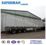13m Op zwaar werk berekende de Aanhangwagen van de Zijgevel van 3 As Cargo Van Semi Truck