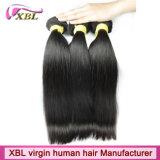 Выдвижение волос естественной девственницы человеческих волос Weft Unprocessed перуанское