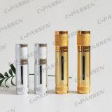 Frasco mal ventilado acrílico luxuoso de Alumite do ouro/tira para o empacotamento do cosmético (PPC-NEW-018)