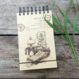 Тетрадь оптовой изготовленный на заказ бумаги книга в твердой обложке способа спиральн