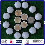 Bille de golf en deux pièces de pratique en matière d'impression fait sur commande de Hotsale