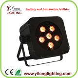 drahtlose Effekt-Lichter der Batterie-6X15W für Hochzeitsfest