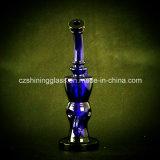Beste Qualitätschinesische blaue Farben-rauchendes Wasser-Glasrohr mit Schweizer Perc