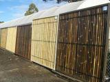 Frontière de sécurité simple de bambou de visage de PVC
