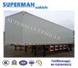 40FT de Semi Aanhangwagen van de Vrachtwagen van de Lading van de Doos van de Zijgevel van de tri-as