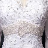 Vestidos de casamento longos da sereia da luva de Tulle do laço do vintage (TM-MS034)