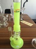 Gefäß-Doppeldusche inline filtrieren rauchendes Wasser-Glas-Rohr