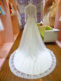長い袖のウェディングドレスの結婚式Uw4005A