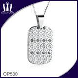 Pendente della modifica dell'intarsio del diamante del PUNTINO del fiore Op530