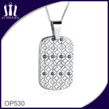 Blume Op530 PUNKT Diamant-Einlegearbeit-Marken-Anhänger
