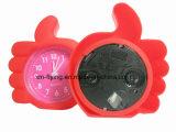 창조적인 아이의 귀여운 핑거 모양 사탕 색깔 실리콘 소형 테이블 자명종