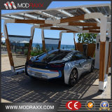 주문을 받아서 만들어진 간이 차고 태양 설치 구조 (GD888)