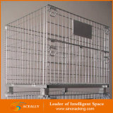 Kundenspezifische Cheap Schwer-Aufgabe Wire Mesh Container mit Wheels