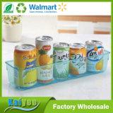 Organizador transparente do armazenamento de escaninho do refrigerador & do congelador da bebida da cozinha