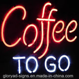 Знак водоустойчивого кофеего неона СИД открытый