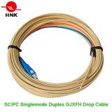 Cavo di zona ottico del cavo di goccia della fibra di FTTH G657A GJYXFCH GJXFH