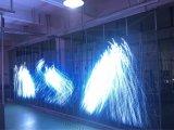 Indicador de parede de vidro interno transparente do edifício da tela de indicador do diodo emissor de luz P10