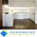 白く光沢度の高いラッカー終わりの食器棚の食器棚の家具(ZY 1131年)