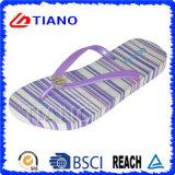 Deslizador ao ar livre da praia do PVC do verão colorido de falhanços da aleta para a senhora (TNK10006-1)