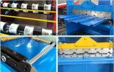 Aço novo da telhadura 2016, máquina de formação nivelada dupla, rolo da camada dobro que dá forma à máquina, fazendo a maquinaria