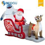 Noël gonflable extérieur en gros Sleigh gonflable de bonhomme de neige de décorations de Noël