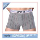 O pugilista do algodão do Mens Shorts o roupa interior com logotipo feito sob encomenda