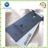 2016 Hangtag de papel laminados mates de la ropa/Hangtag para la ropa (JP-HT002)