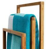 Prateleira de bambu do banheiro da cremalheira da prateleira de toalha do banheiro para o banheiro Accessoires