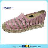 麻ロープが付いている高品質のレース材料の原因の靴