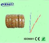 Le téléphone a tordu 2 le câble de cavalier de cuivre bidon par PVC des faisceaux 0.51mm
